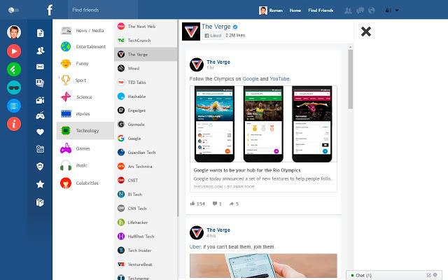Flatbook –  ad block per avere facebook senza pubblicità
